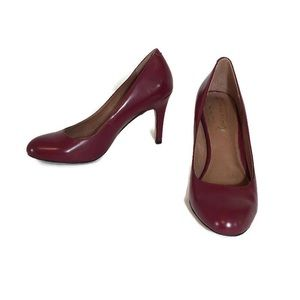 Corso Como Burgundy High Heel Leather Pumps 7
